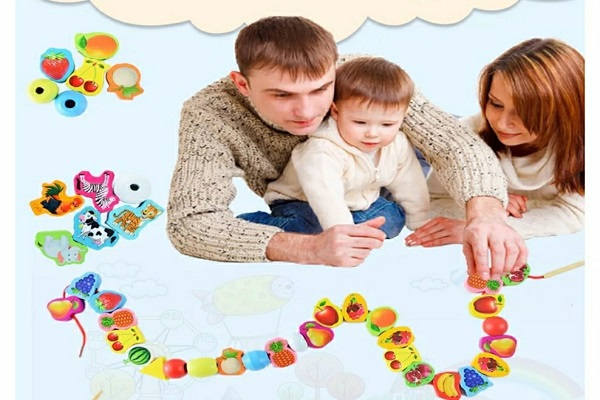家庭里串珠的感统训练图