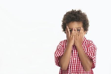 有语言障碍问题的小孩